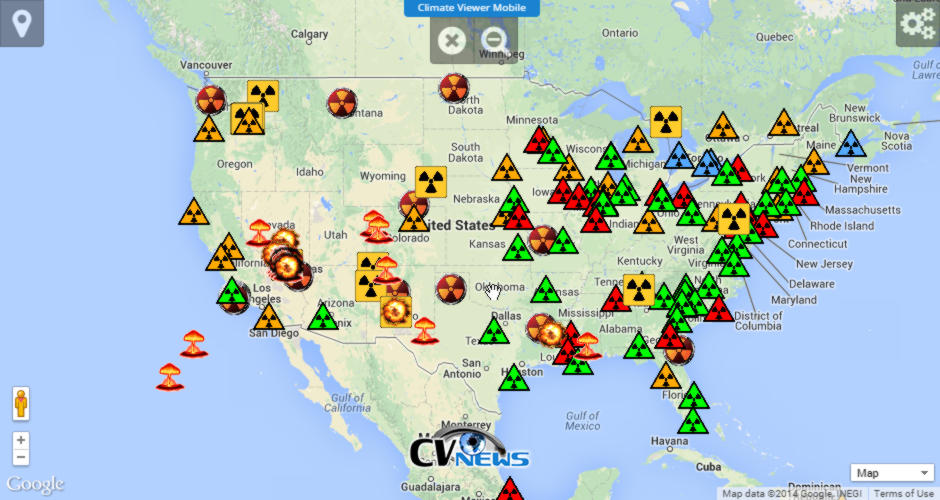 Rad Map Usa Portals Of Portent Marco Zonka - Radiation map in us